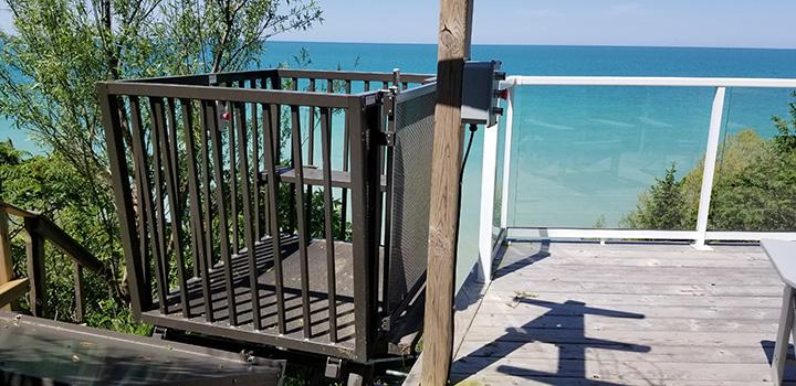Lift takes you to the Lakeshore